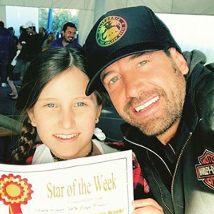 Gabriel Soto con su hija mayor Elissa