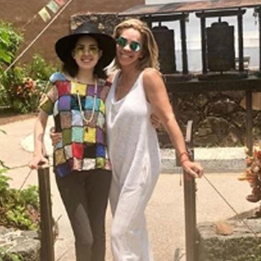 Rocío Sánchez Azuara con su hija Daniela