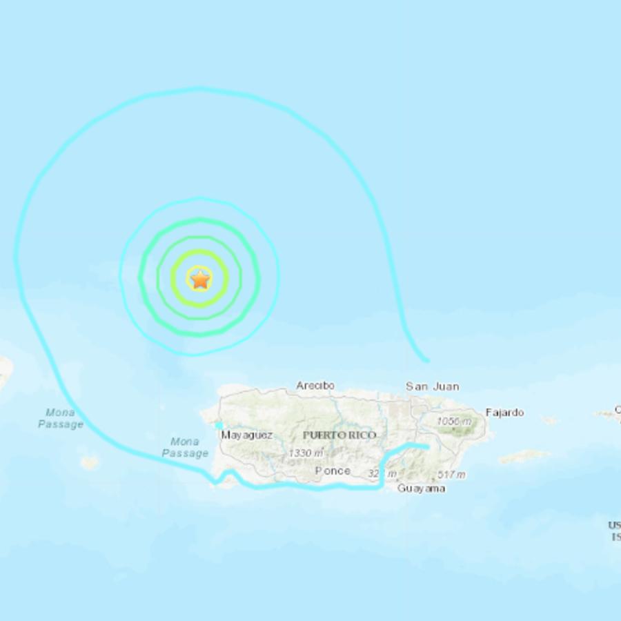 Imagen de la zona dónde han impactado el terremoto