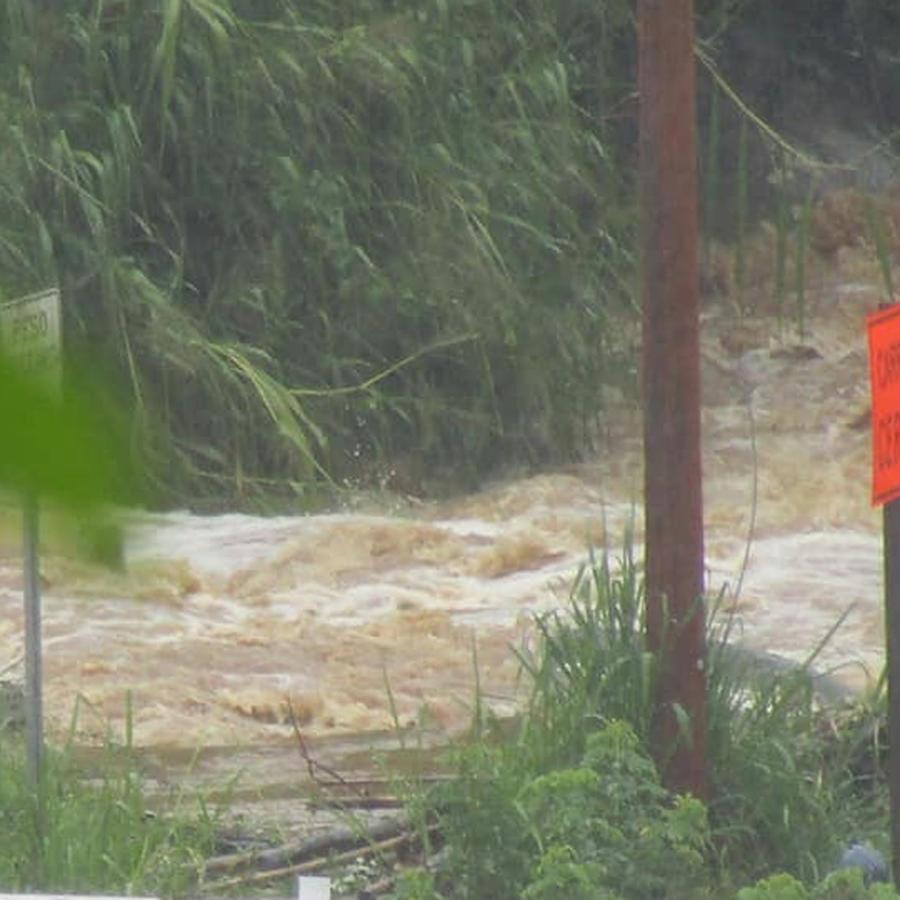 Inundaciones en Puerto Rico tras el paso de la tormenta Karen