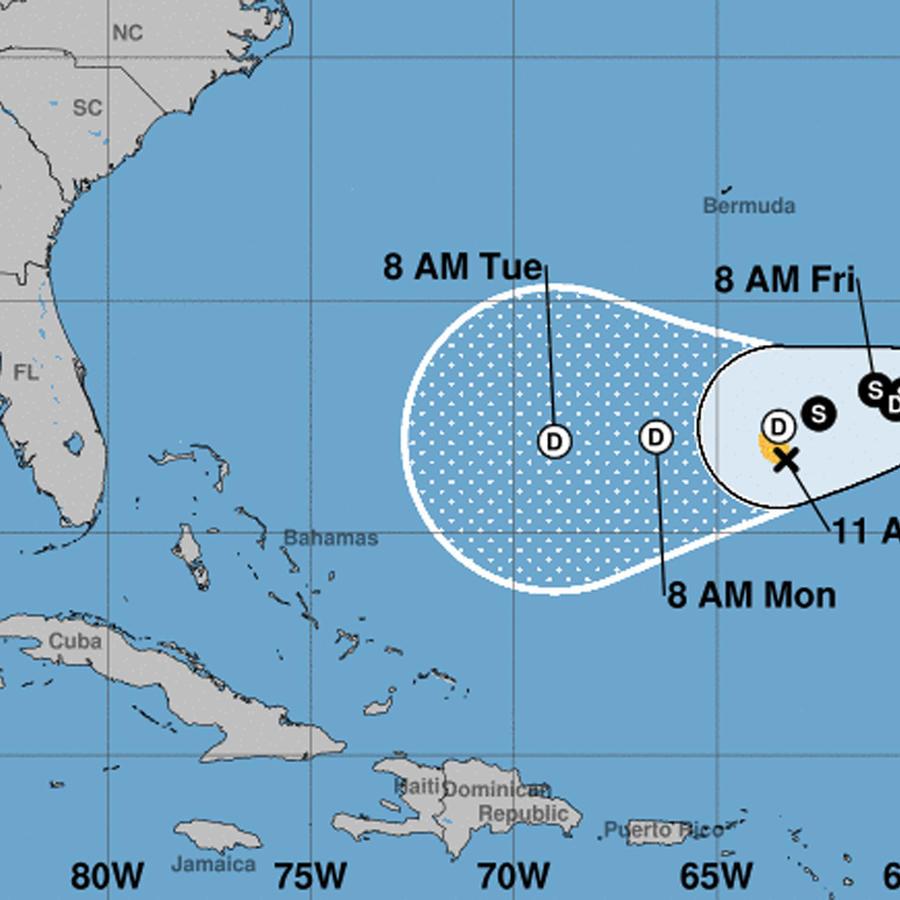 Cono de la tormenta tropical Karen