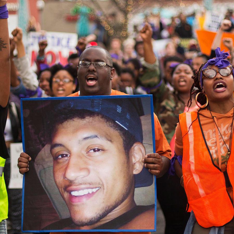 Protestas por la muerte de Anthony Hill en Georgia en 2015