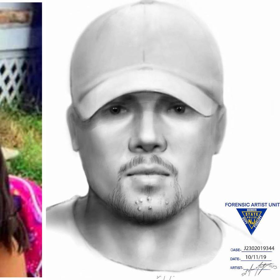 Imagen de Dulce María Alavez y retrato hablado de una persona identificada como testigo de la desaparición.