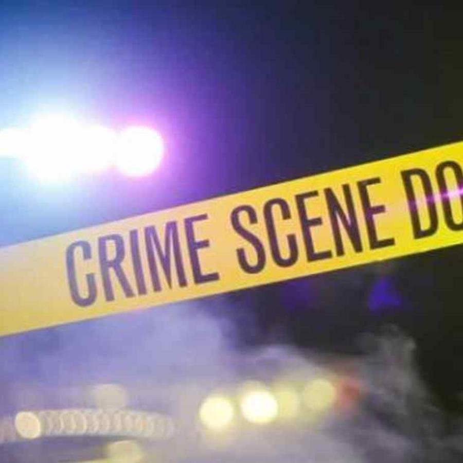 Un cordón policial en la escena del crimen.