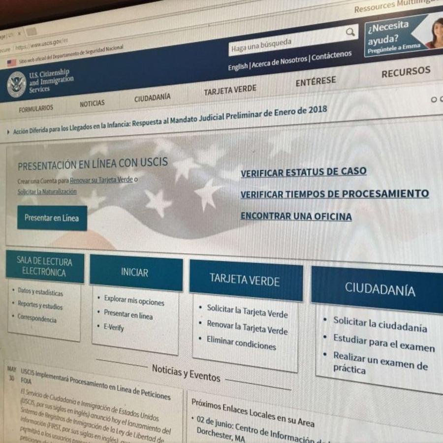 USCIS sugiere revisar constantemente su página web.