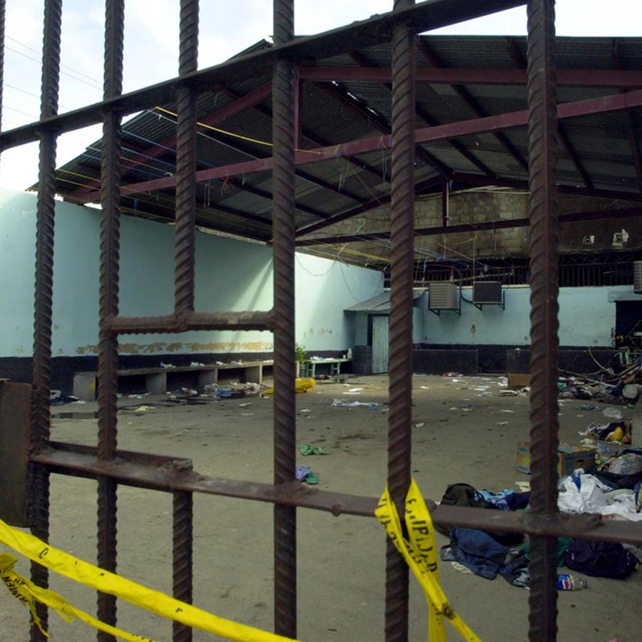 Imagen del interior de un penitenciario en San Pedro Sula, Honduras.