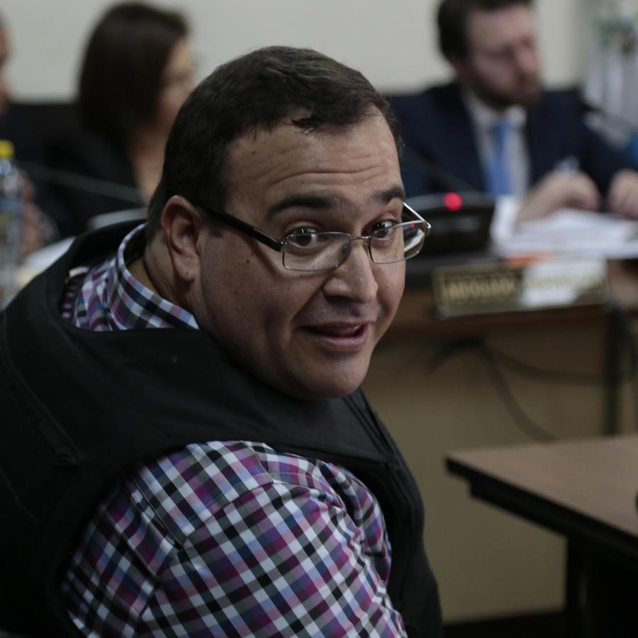 Imagen de archivo del exgobernador de Veracruz, México, Javier Duarte en 2017.