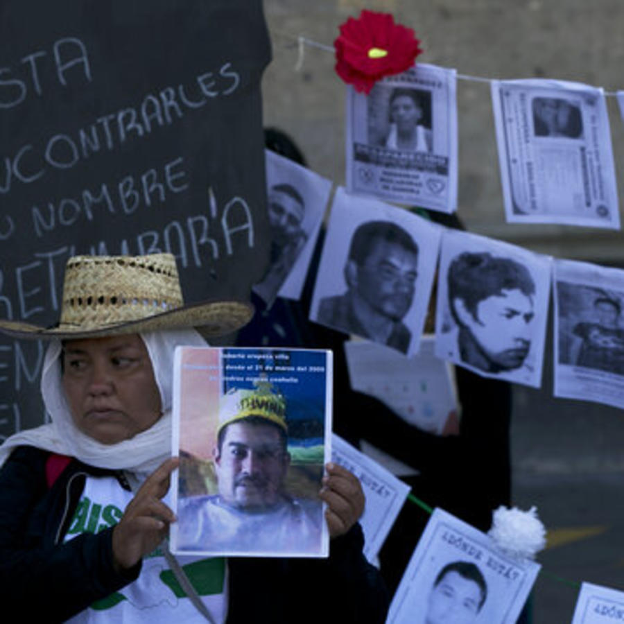 Una protesta de familiares de personas desaparecidas en Ciudad de México
