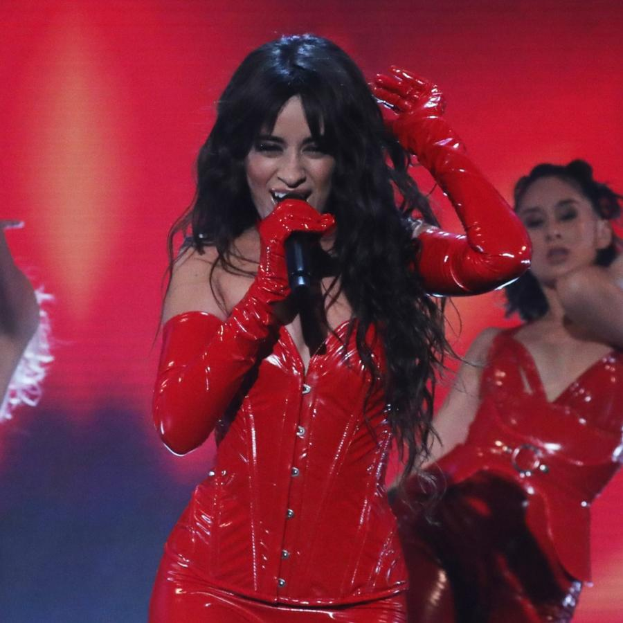 Camila Cabello performing during the filming for the Graham Norton Show at BBC Studioworks 6 Television Centre