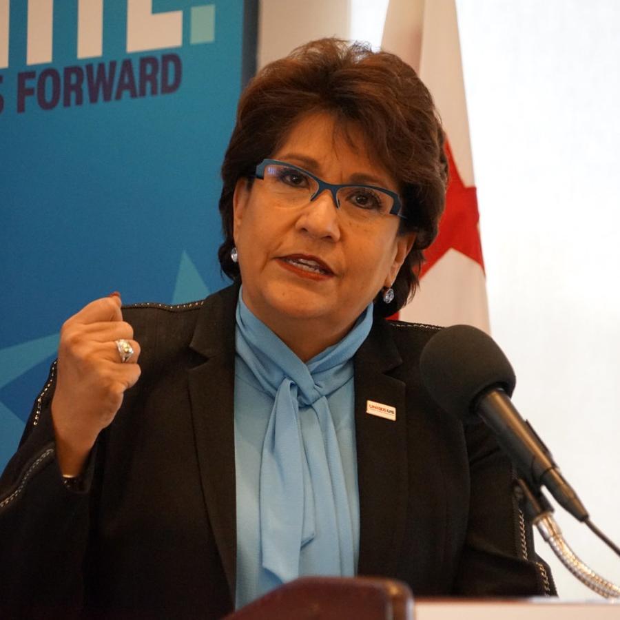 Janet Murguía, presidenta de UnidosUS, anunció una campaña de empadronamiento de votantes latinos para 2020, con la meta de recabar hasta $10 millones para movilizar a los latinos en todo el país