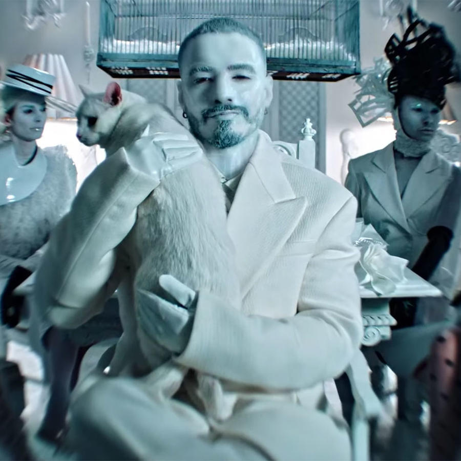 "J Balvin in new ""Blanco"" video"