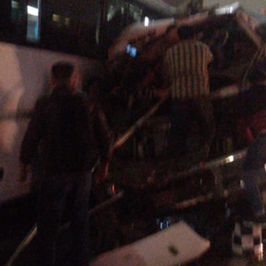 Choque de autobuses en la autopista México-Pachuca