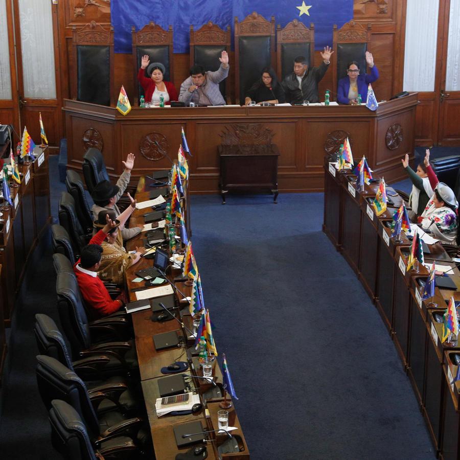 Congreso de Bolivia en votación este sábado.