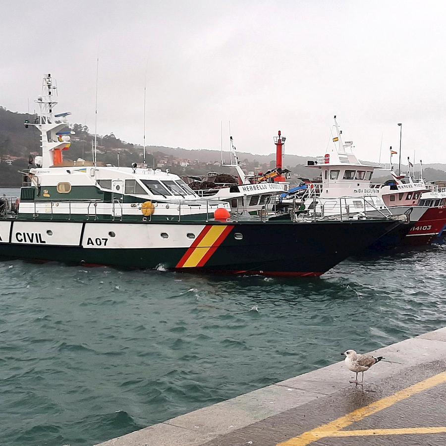 El puerto de Aldán (España), una localidad cercana a donde se interceptó el primer submarino cargado de droga en Europa.