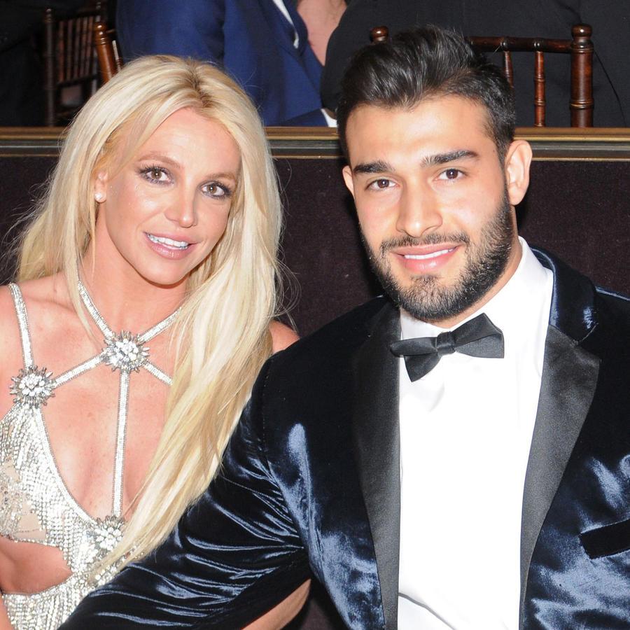 Britney Spears y Sam Asghari en los Premios GLAAD Media Awards 2018