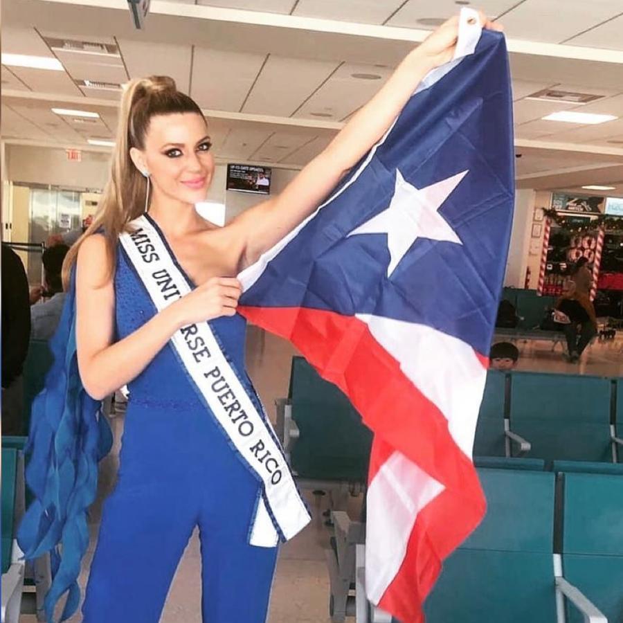 Madison Anderson, Miss Puerto Rico 2019, Posando con la bandera de Puerto Rico, Miss Universo 2019