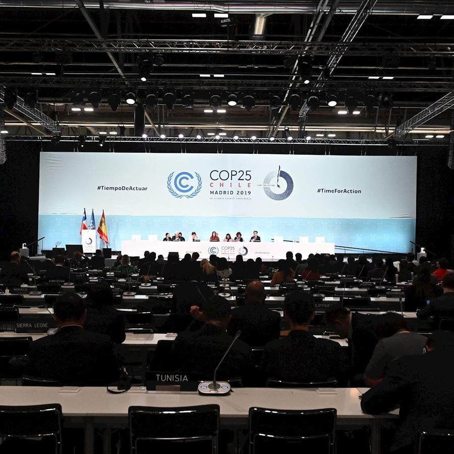 Un momento de este domingo de la Cumbre del Clima de la ONU, celebrada en Madrid (España).