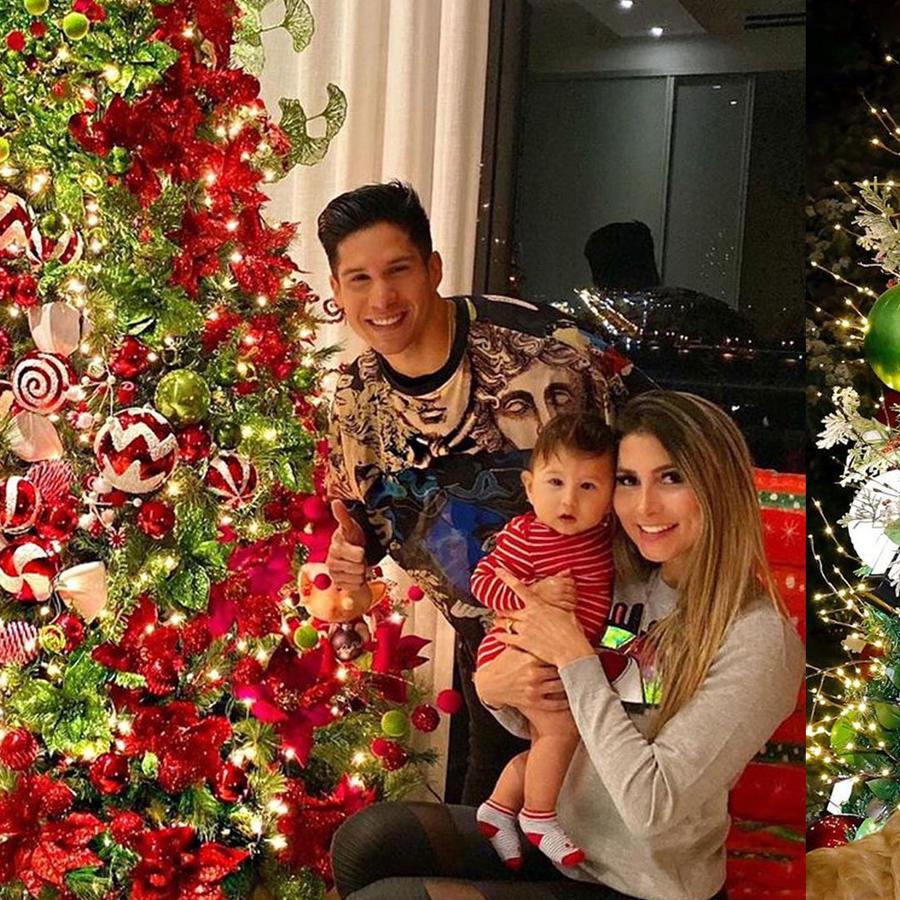 Famosos con sus árboles de Navidad