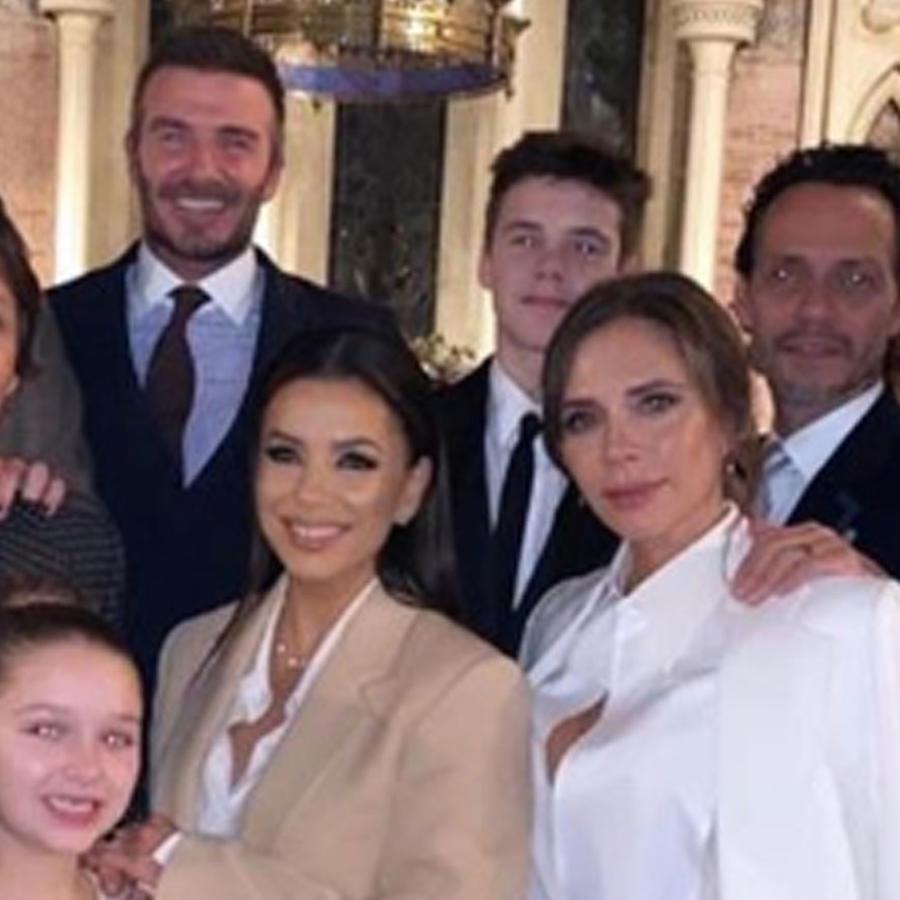 Victoria y David Beckham celebran el bautizo de sus hijos
