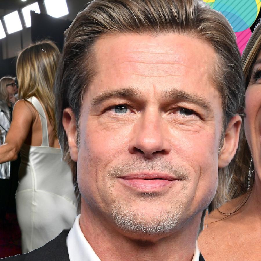 Brad Pitt y el vestido de Jennifer Aniston