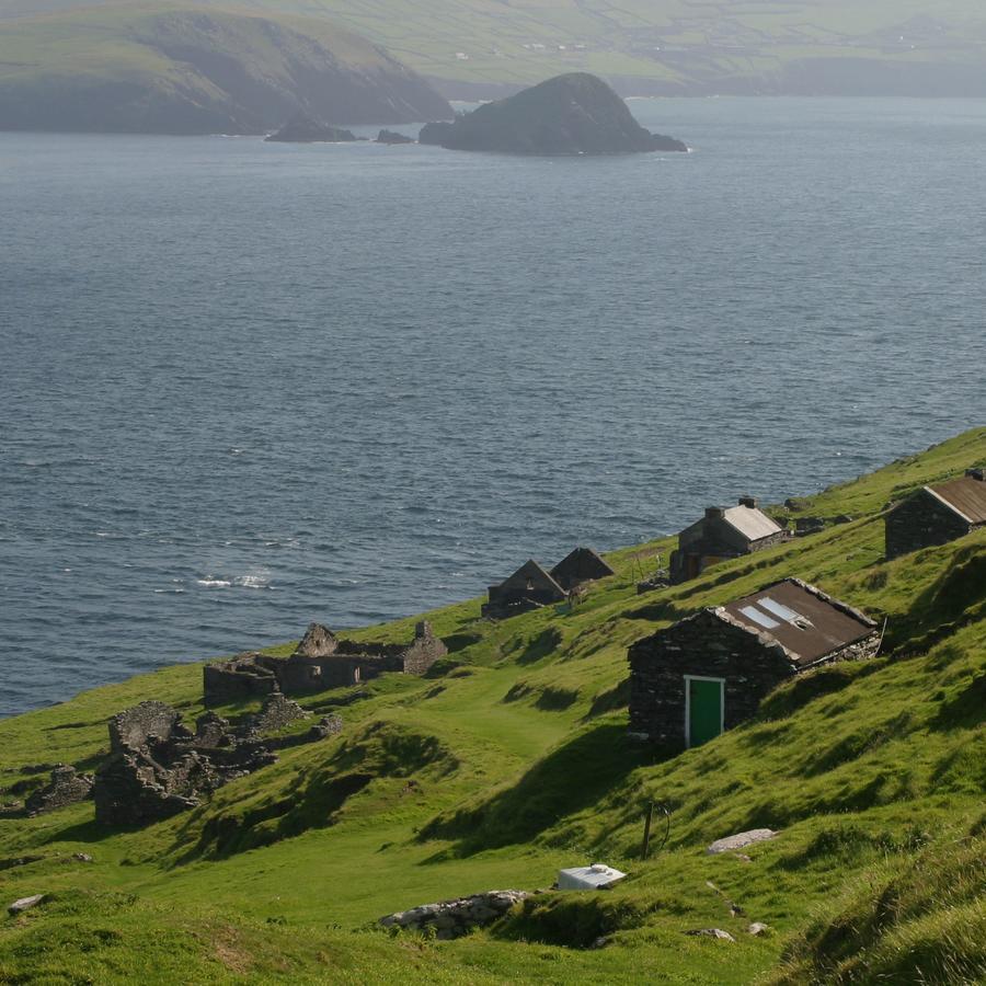 Fotografía de archivo de la isla The Great Blasket Island