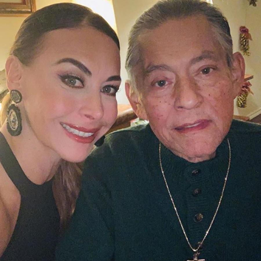 Vanessa Guzmán con su papá