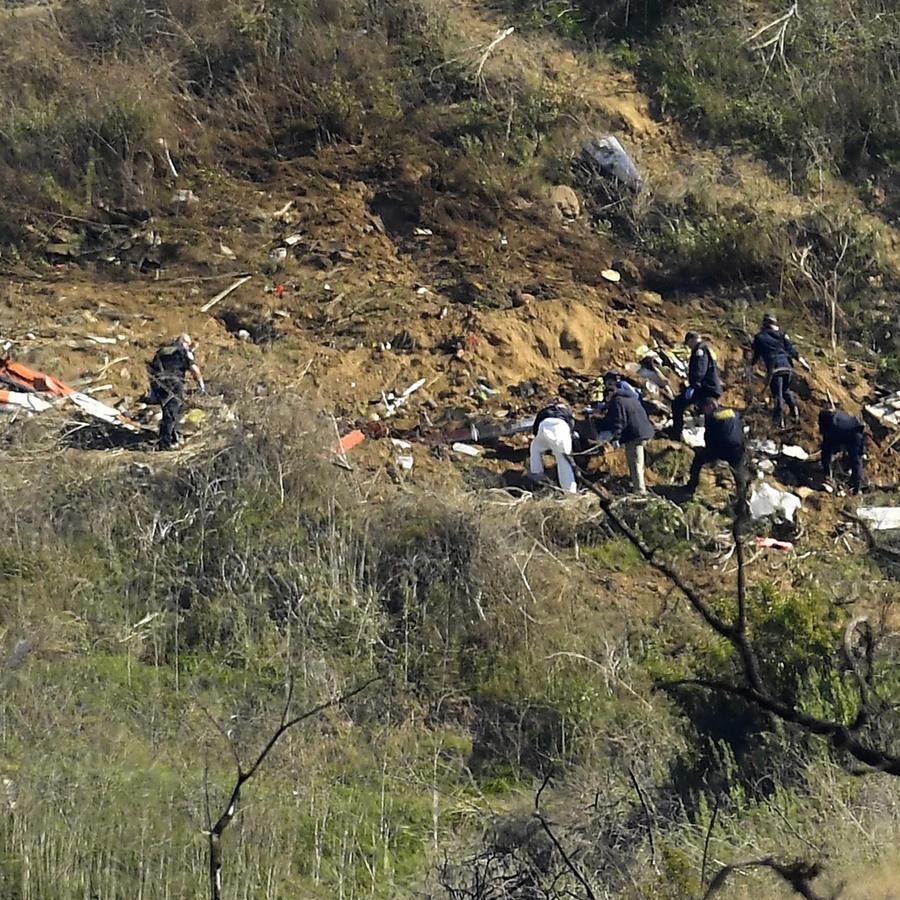 Sitio del accidente de helicóptero donde murió Kobe Bryant