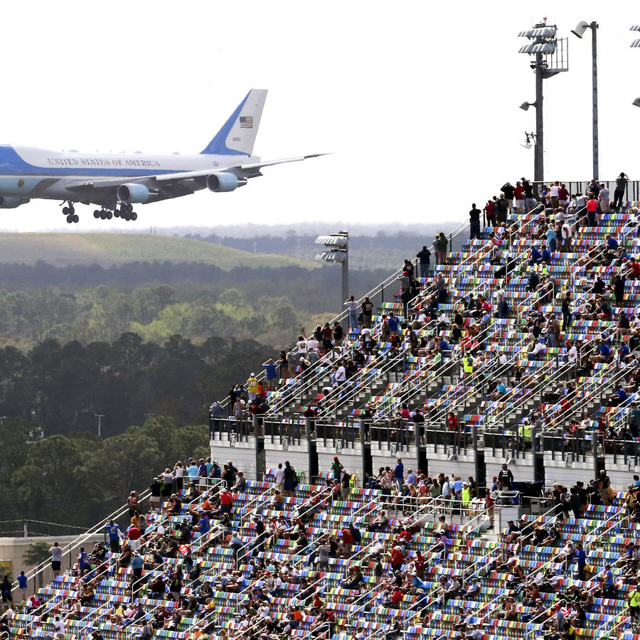 Air Force One en el Daytona International Speedway