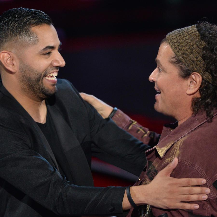 Alonso Garcia y Carlos Vives en las audiciones a ciegas de La Voz US 2