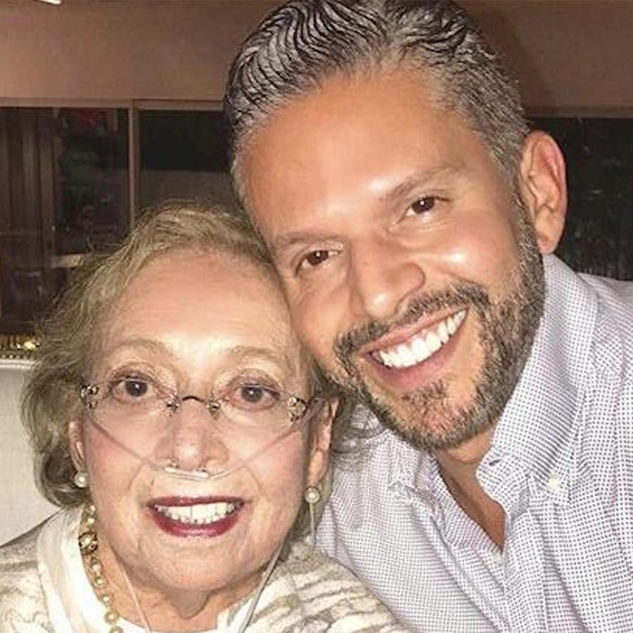 Rodner Figueroa con su madre Eucaris Rigual