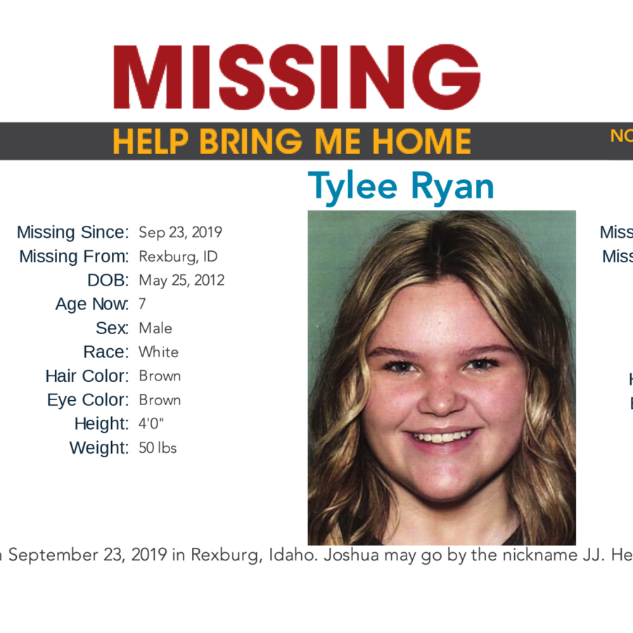 Cartel de búsqueda de Joshua Vallow, de 7 años, y Tylee Ryan, de 17.