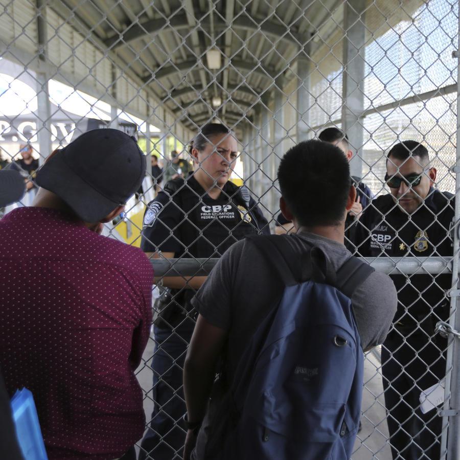 Migrantes en Matamoros (México).