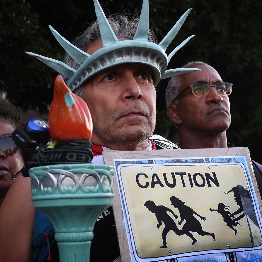 Protesta contra ICE en Los Angeles en julio de 2019.