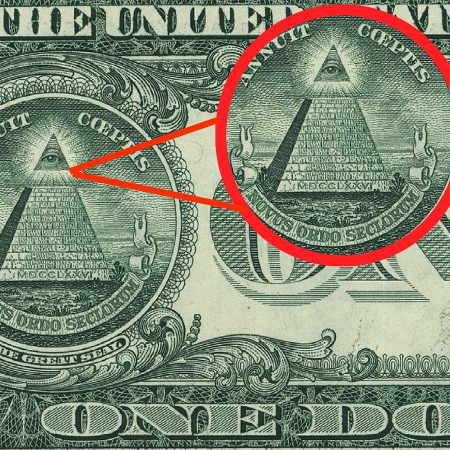Billete dólar símbolos