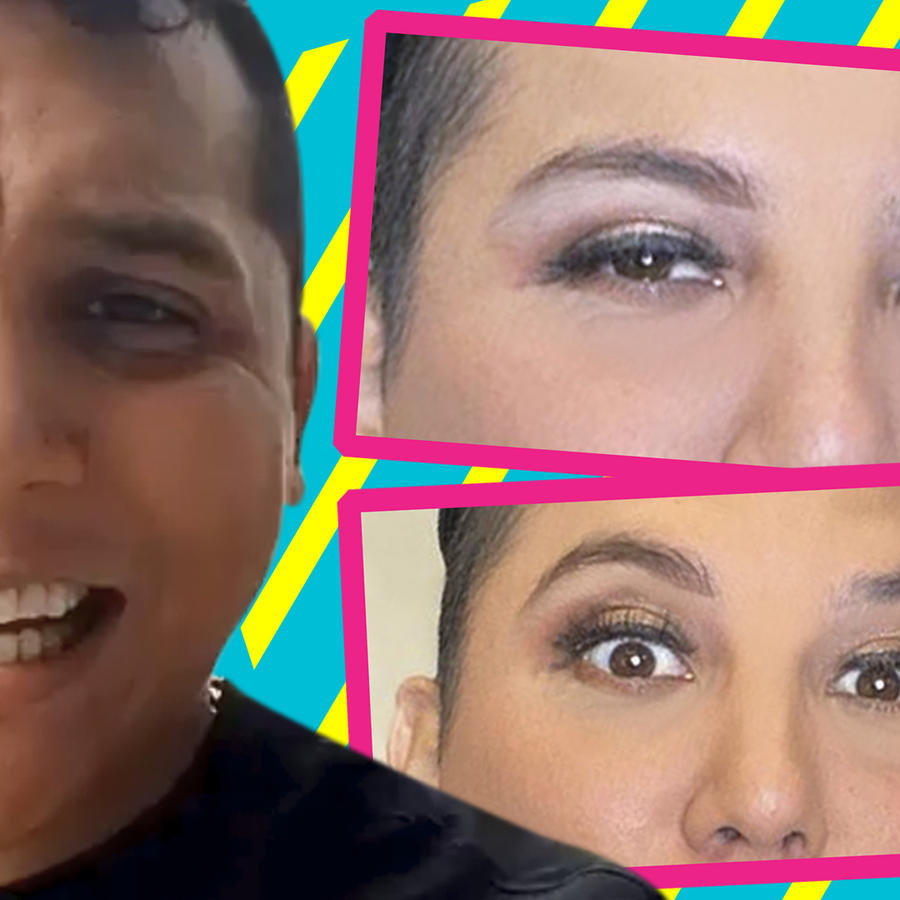 Edwin Luna con maquillaje al estilo Kimberly Flores