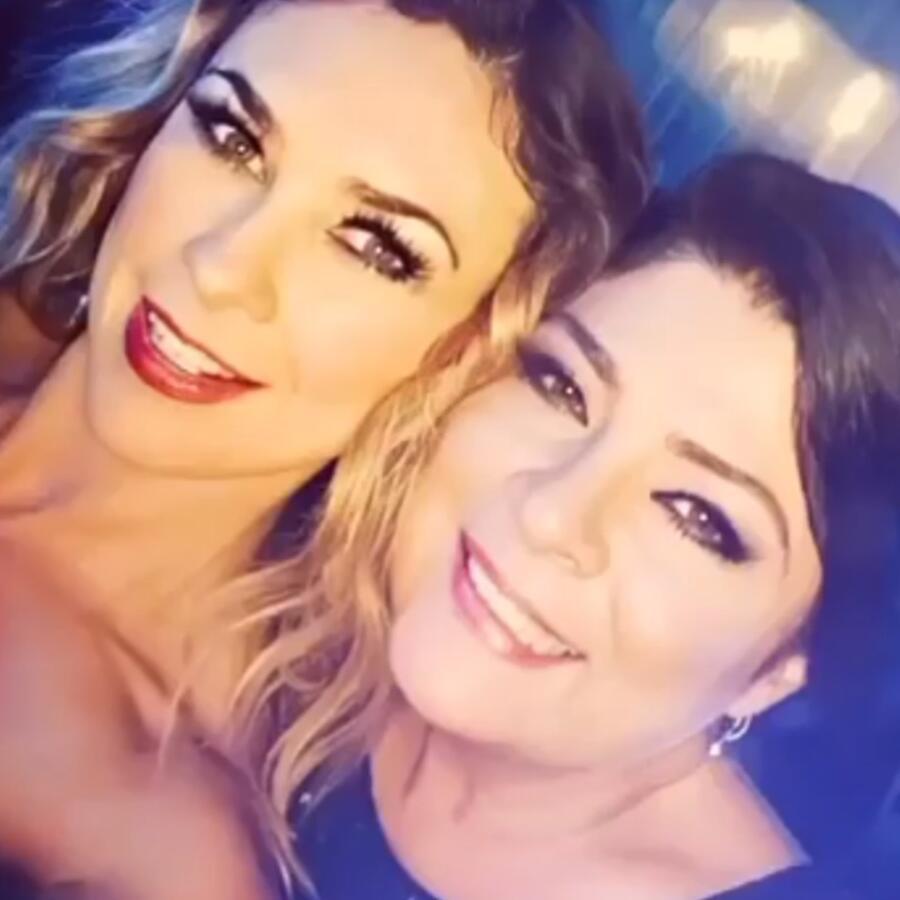 Aracely Arámbula con Victoria Ruffo