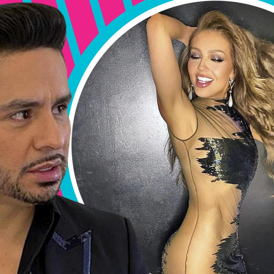 Larry Hernández con vestido de Thalía