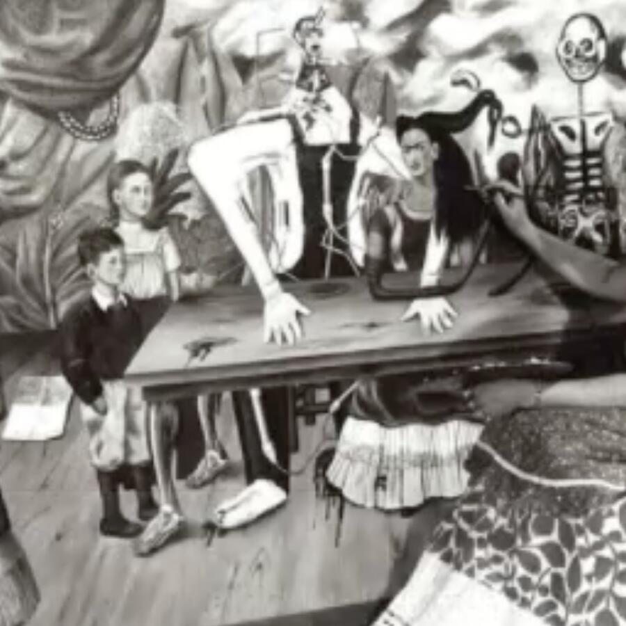Frida Kahlo La Mesa Herida