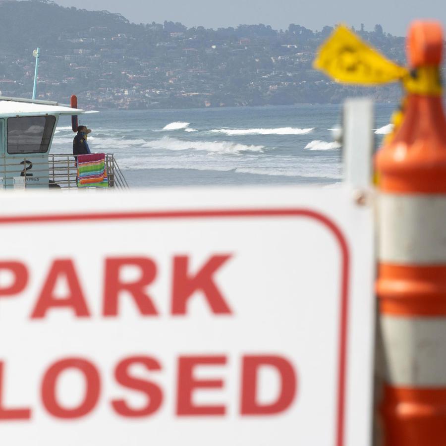 Playas cerradas por el 4 de julio este viernes.