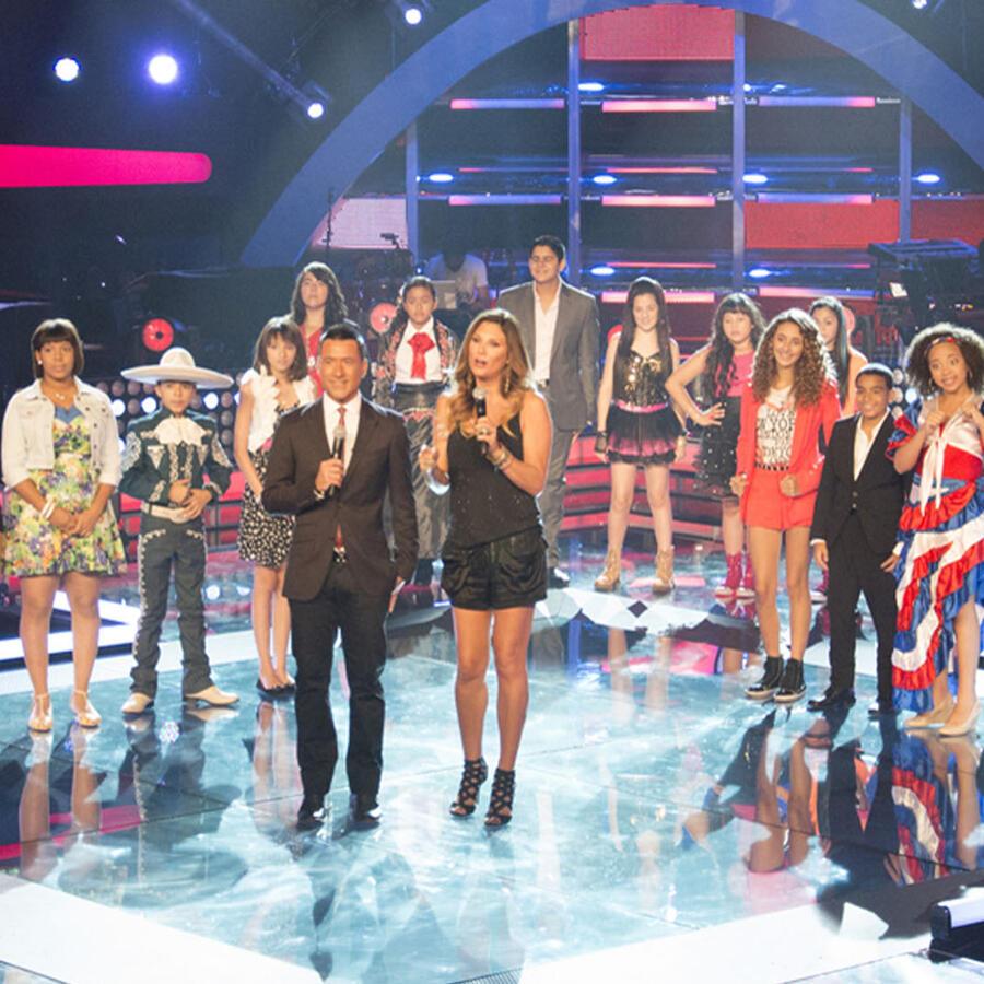 Participantes en los shows en vivo de La Voz Kids