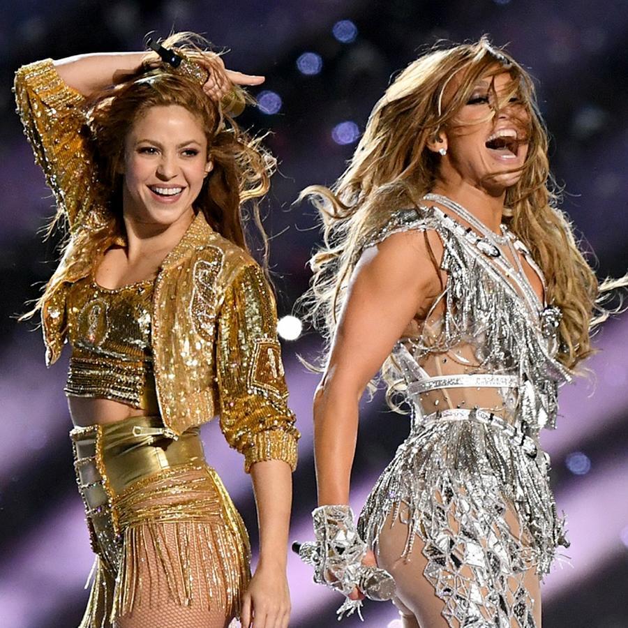 Shakira y Jennifer Lopez en show de Super Bowl