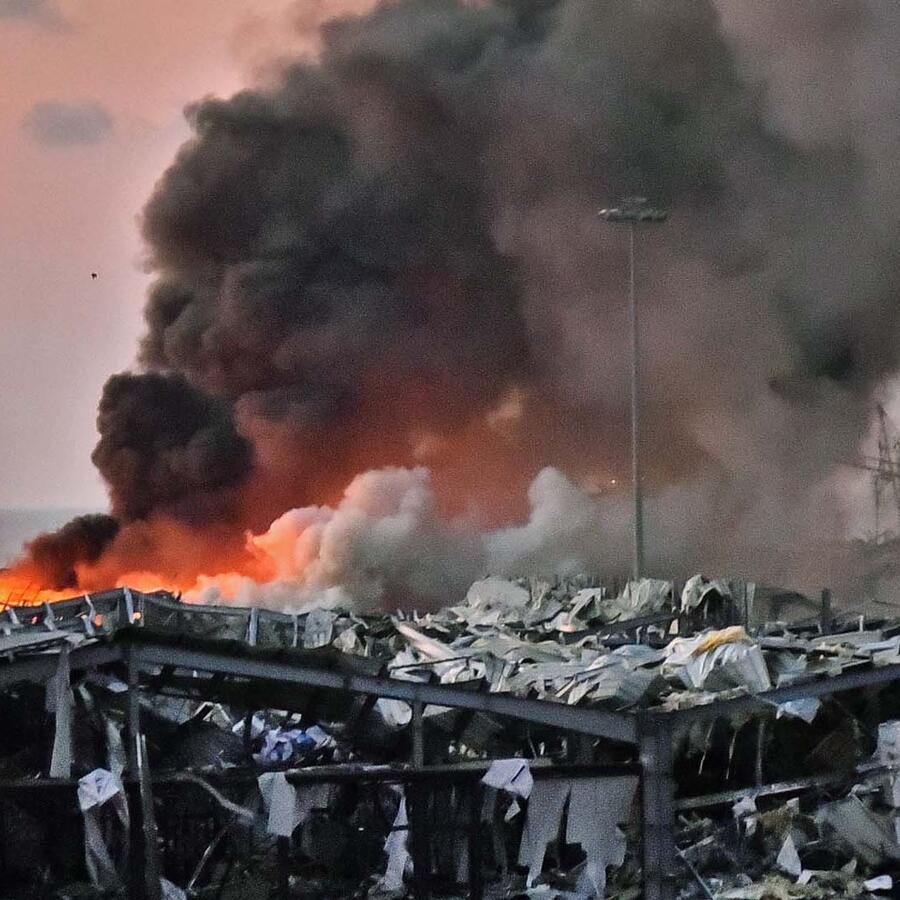 Explosiones en Beirut dejan daños y heridos