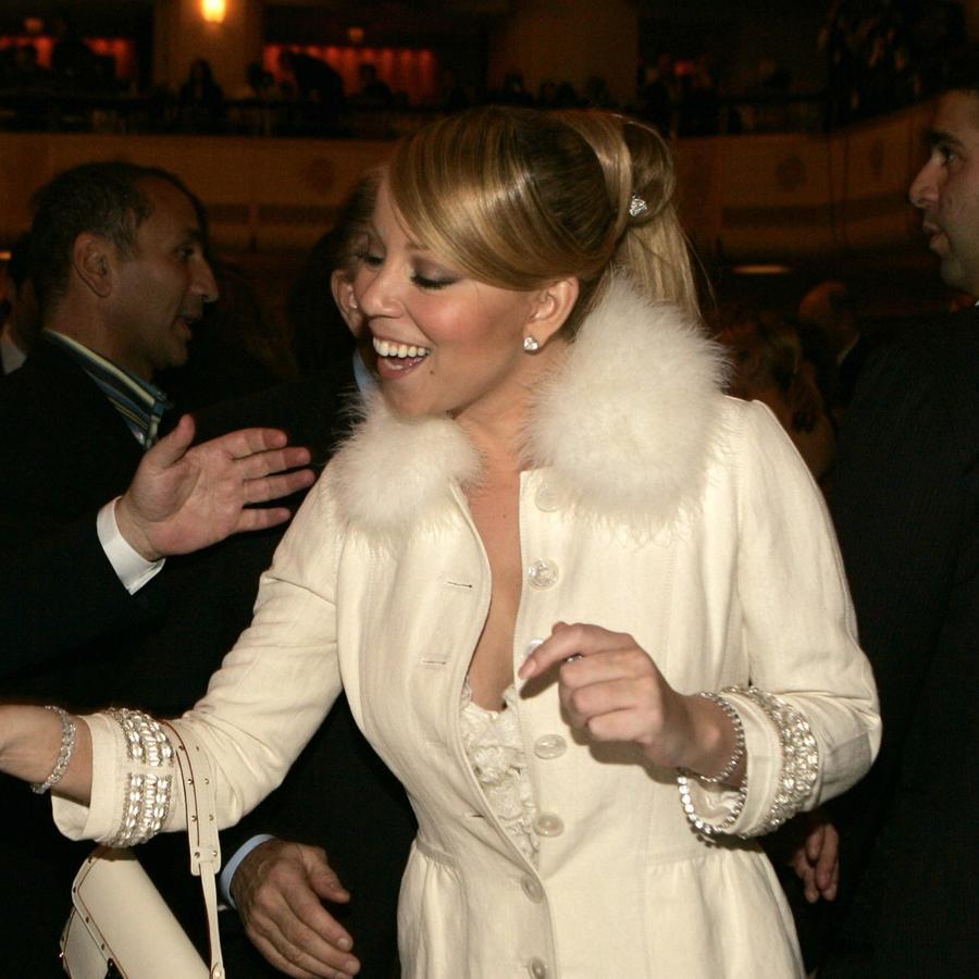 Tommy Mottola y Mariah Carey