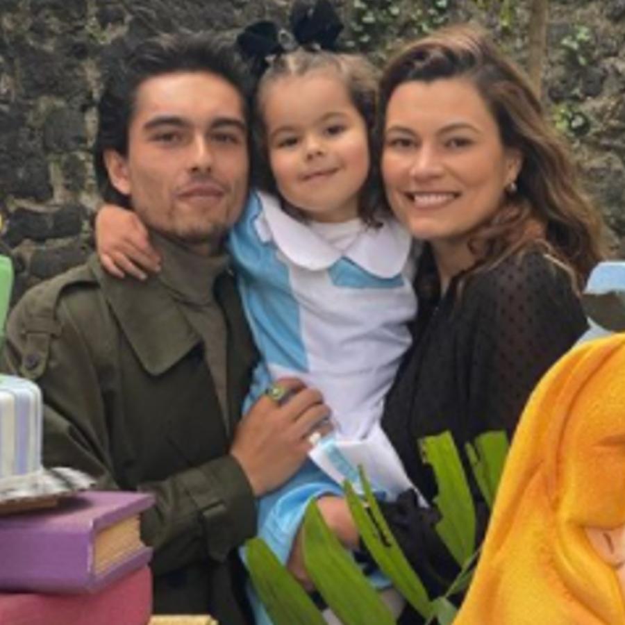 Sergio Mayer Mori y Natália Subtil en el cumple de su hija