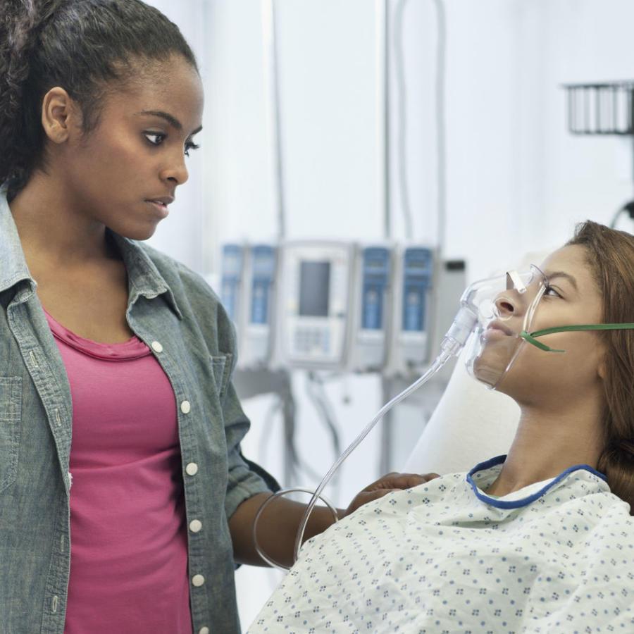 Hermanas en el hospital
