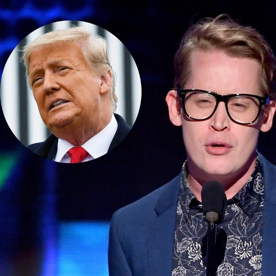 Macaulay Culkin y Donald Trump