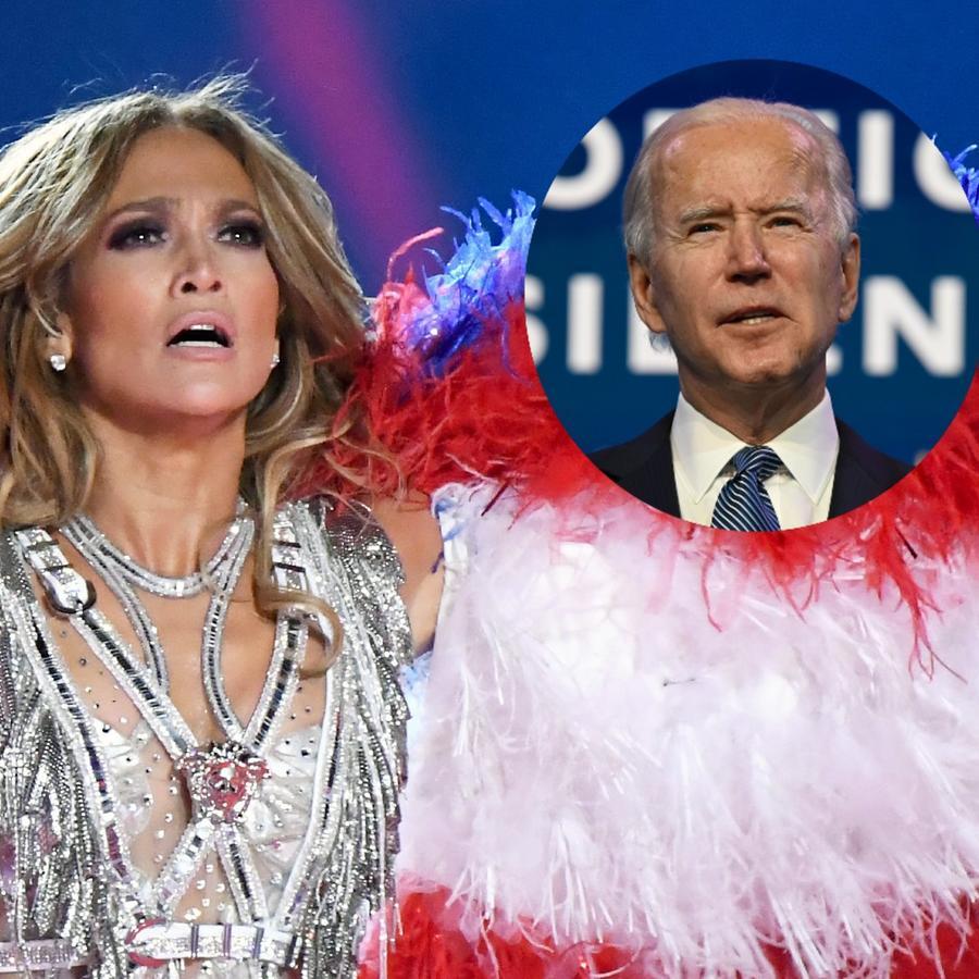 Jennifer Lopez y Joe Biden