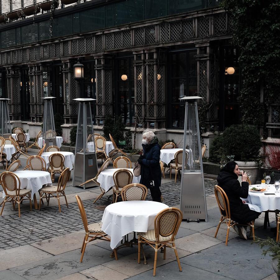 Restaurante vacío en Nueva York.