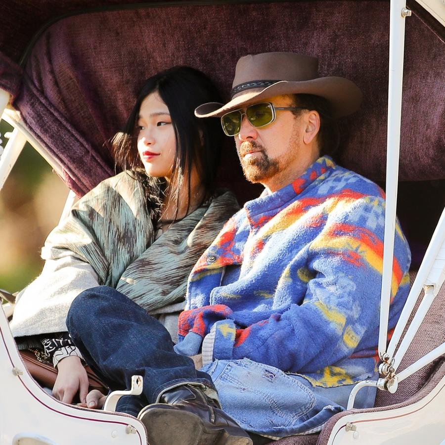 Nicolas Cage y Riko Shibata