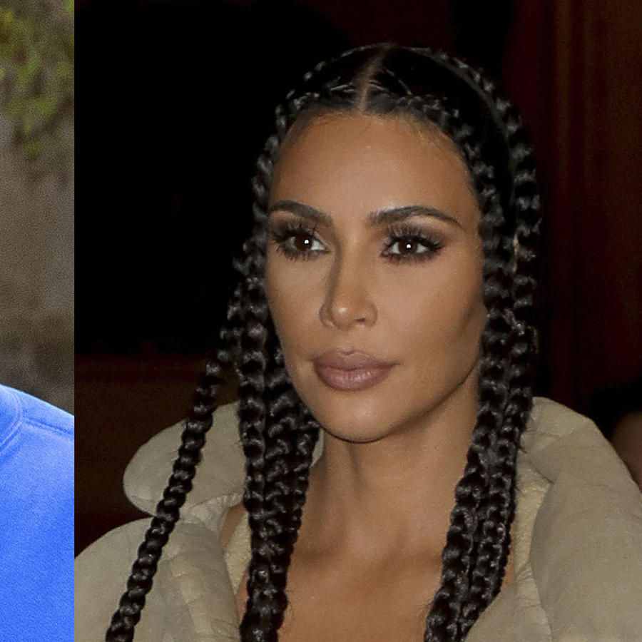 Kanye West y Kim Kardashian, caras tristes